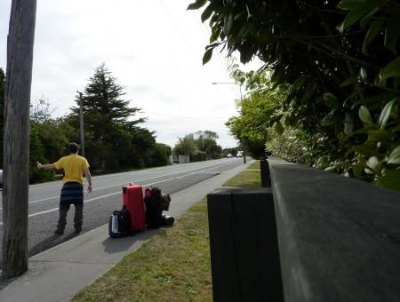 Viajar en autostop en Nueva Zelanda