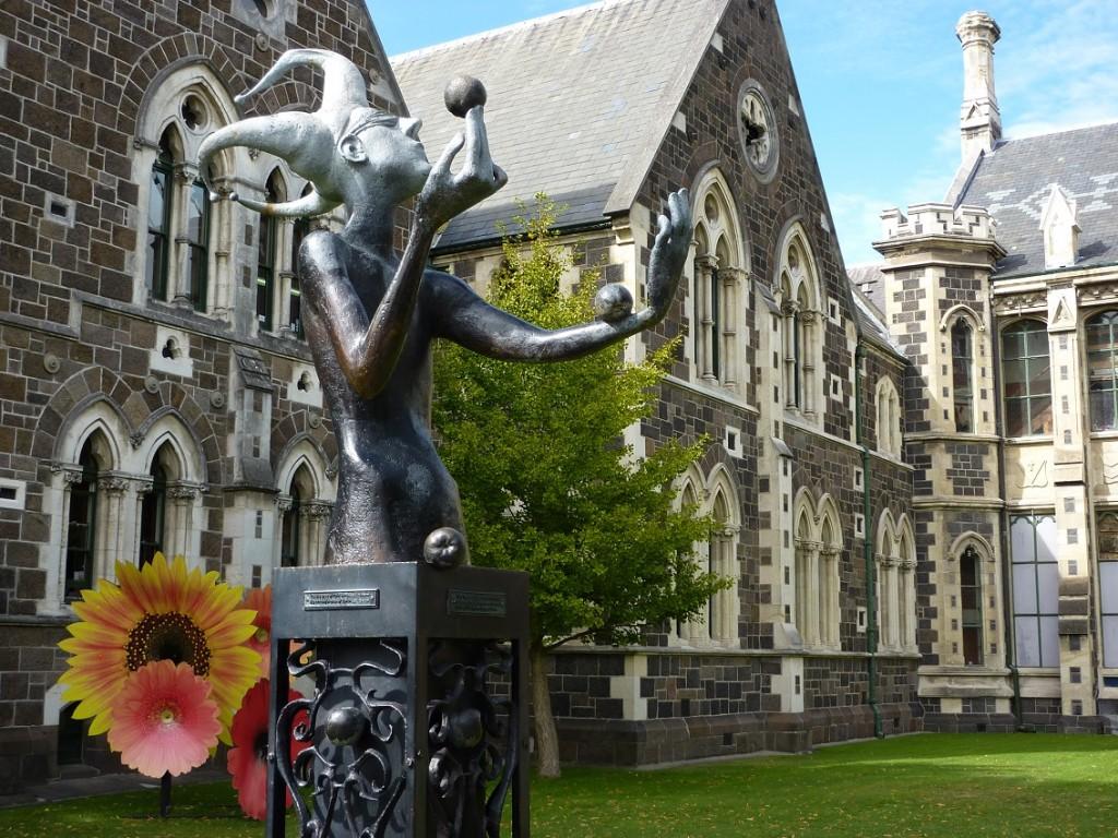 Parque en Christchurch, Nueva Zelanda