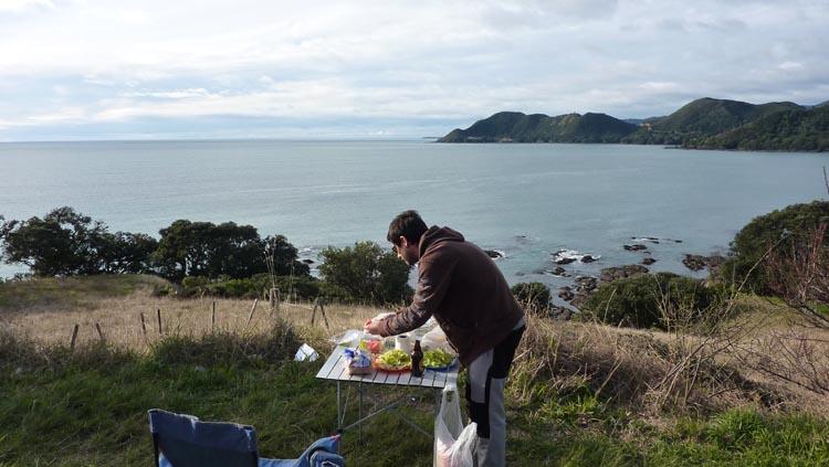 Picnic East Cape, Nueva Zelanda