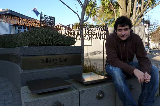 Yo en Christchurch antes de volver de Nueva Zelanda