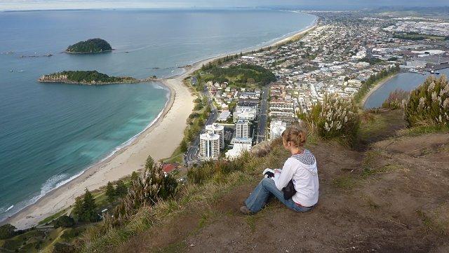 Vistas desde lo alto del mount Maunganui, Tauranga