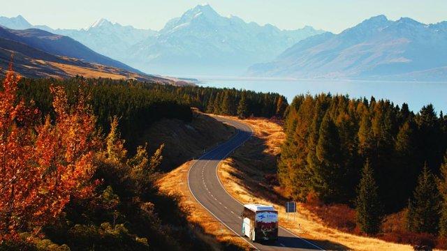 En Nueva Zelanda se puede llegar en autobús a cualquier lugar