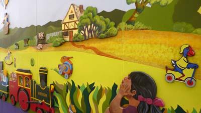 Mural colorido de Katikati, Nueva Zelanda