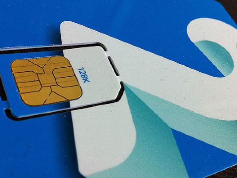 Tarjeta SIM de la compañía de teléfono 2 degrees de Nueva Zelanda