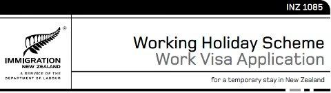 Formulario de la Working Holiday Visa