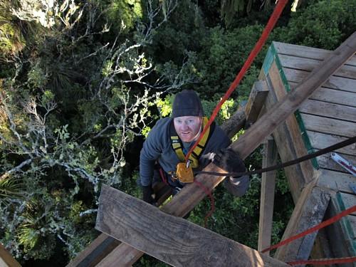 Montar todo el circuito del Rotorua Canopy Tour no fue sencillo