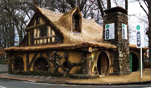 La nueva oficina de información y turismo de Matamata tiene aspecto de la casa de un hobbit