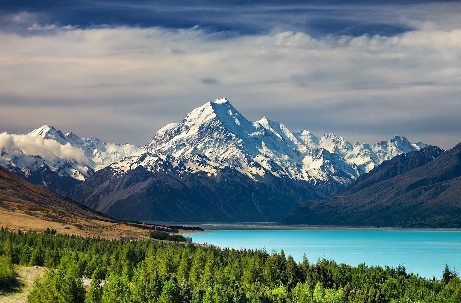 El monte Cook de Canterbury, Nueva Zelanda