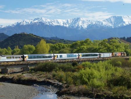 Viajar por Nueva Zelanda en el Ferrocarril TranzAlpine
