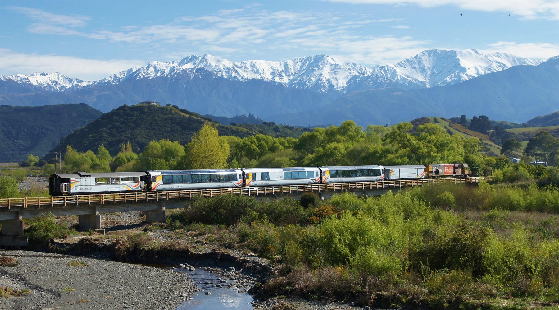 Tren Transalpine, Nueva Zelanda