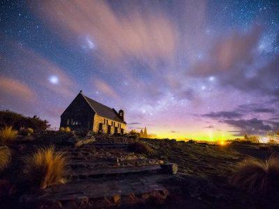 Cielo en el lago Tekapo, Nueva Zelanda