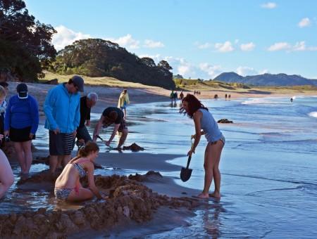 Hot water beach en Coromandel