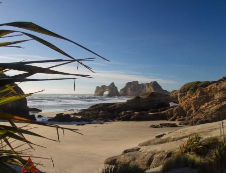 Fotografías de la playa de Wharariki Beach