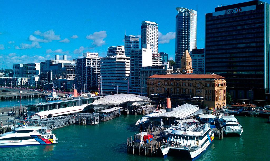 Puerto de Auckland, Nueva Zelanda