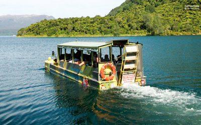 Visita en autobús anfibio por Rotorua