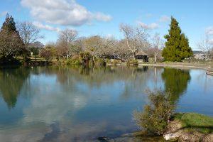 Parque Kuirau de Rotorua en Nueva Zelanda