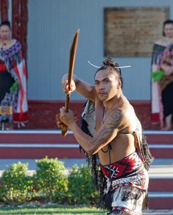 Maoríes en Rotorua de Nueva Zelanda