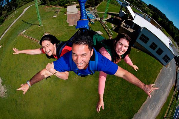 Actividad deporte swoop swing en Rotorua