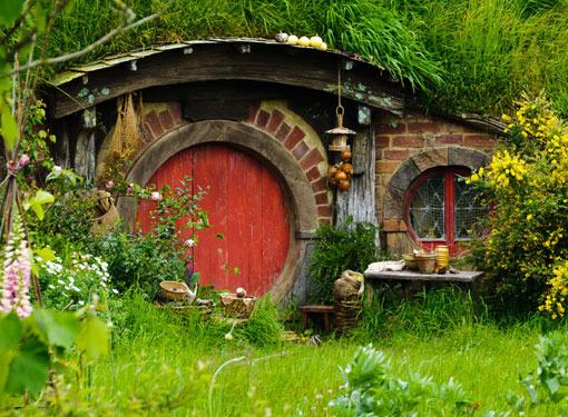 Casa típica de Hobbiton en El señor de los anillos