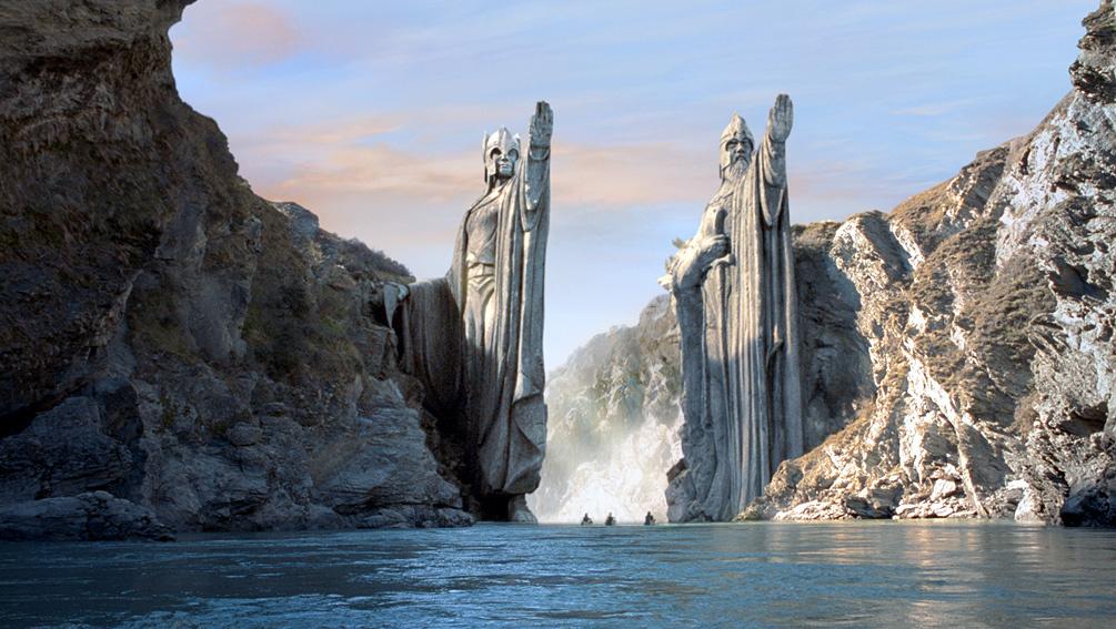 Argonath en el río Anduin